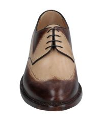 A.Testoni Brown Lace-up Shoe for men