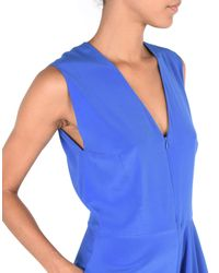 Zero + Maria Cornejo Blue 3/4 Length Dress