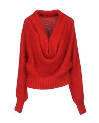 Alberta Ferretti - Red Sweater - Lyst