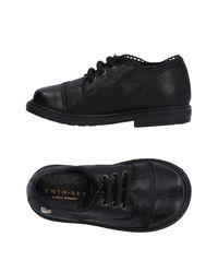 Twin Set Black Lace-up Shoe
