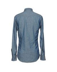 DSquared² Blue Denim Shirt for men