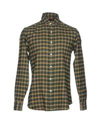 Chemise Salvatore Piccolo pour homme en coloris Green