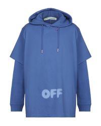 Off-White c/o Virgil Abloh Sweatshirt in Blue für Herren