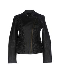 Doma Leather - Black Jacket - Lyst