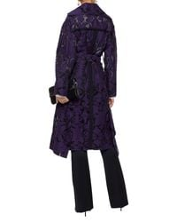 Manteau long Roland Mouret en coloris Purple