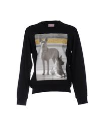 Palm Angels Black Sweatshirt for men