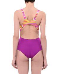 Emilio Pucci Purple One-piece Swimsuit