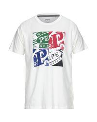 T-shirt di Pepe Jeans in White da Uomo
