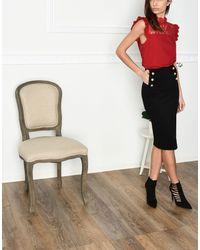 Jolie By Edward Spiers Black 3/4 Length Skirt