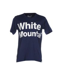 White Mountaineering Blue T-shirt for men