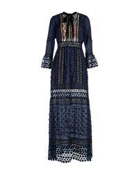 Self-Portrait Blue Long Dress