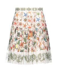 Versace White Knee Length Skirt