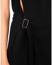Victoria Beckham Black 3/4 Length Dress