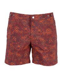 Danward Red Swim Trunks for men