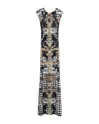 Philipp Plein Black Langes Kleid