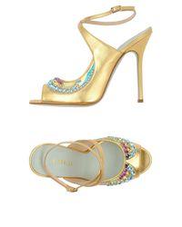 Giannico Metallic Sandals