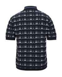 Pringle of Scotland Patterned polo shirt in Blue für Herren