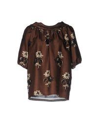 Blouse Shirtaporter en coloris Brown
