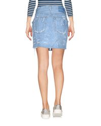 Forte Couture Blue Denim Skirts