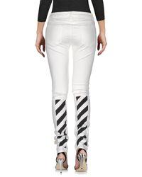 Off-White c/o Virgil Abloh White Denim Pants