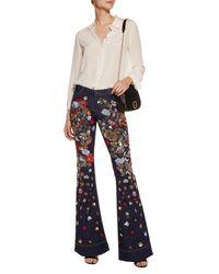 Pantalon en jean Alice + Olivia en coloris Blue