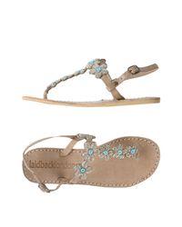 Laidbacklondon Natural Toe Strap Sandal
