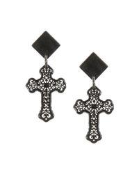 Almala - Black Earrings - Lyst
