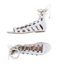 Aquazzura White Sandals