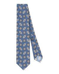 Corbata Drake's de hombre de color Blue