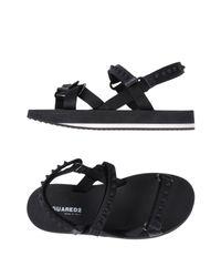 DSquared² - Black Sandale for Men - Lyst