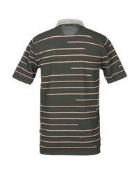 Roberto Collina Green Textured Stripe Polo Shirt for men