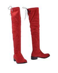 Divine Follie Red Stiefel