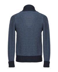 Cardigan Drumohr pour homme en coloris Blue