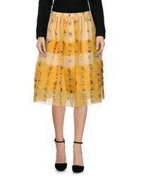 N°21 - Yellow Knee Length Skirt - Lyst