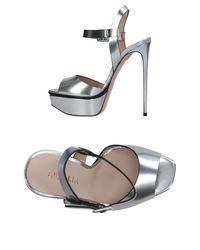 Le Silla Metallic Sandals