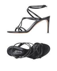 Casadei Black Sandale