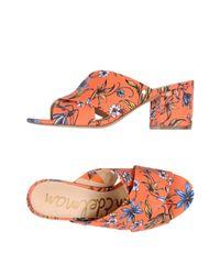 Sam Edelman Orange Stanley Slide Sandal