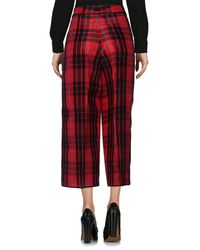 DSquared² Red 3/4-length Trousers