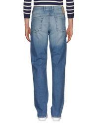 Canali Blue Denim Trousers for men