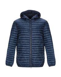 Grey Daniele Alessandrini Blue Synthetic Down Jacket for men