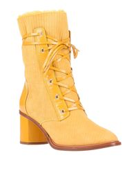 Botines de caña alta Casadei de color Yellow