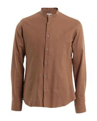 26.7 Twentysixseven Brown Shirt for men