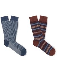 Pantherella Blue Short Socks for men