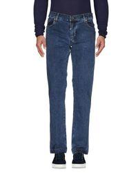 Billionaire Blue Denim Trousers for men