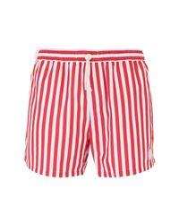 Short de bain Topman pour homme en coloris Red