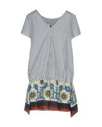 Pianurastudio White Short Dress