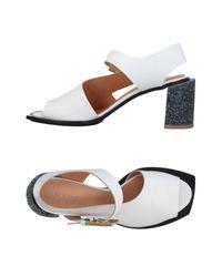 Ellis White White Sandals
