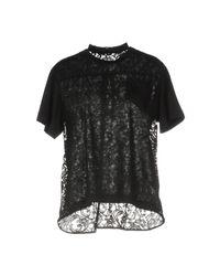 Sacai Black T-shirts