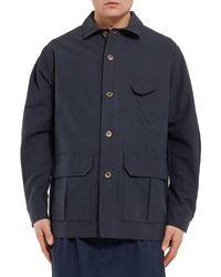 Studio Nicholson Blue Overcoat for men