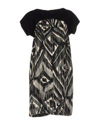 Blue Les Copains Black Short Dress